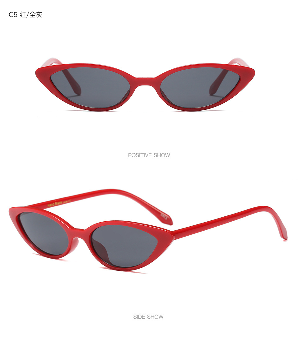 Small Cat Brand Design Luxury Sunglasses Women 2018 Men Sunglasses Vintage Red Lens Eye Sun Glasses Retro Style Top Selling in Women 39 s Sunglasses from Apparel Accessories