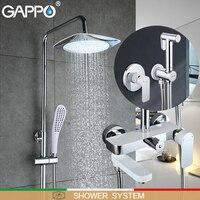 Barato Bañera GAPPO baño de ducha grifos de bidé grifo de ducha de lluvia de latón conjunto