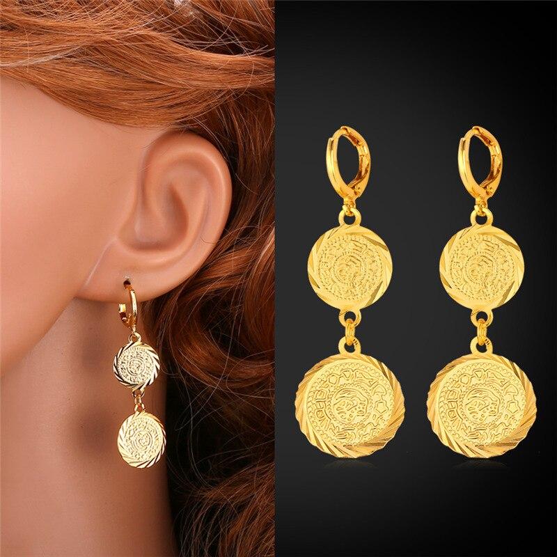 U7 Dubai Gold Color Jewelry Set For Women African Ethiopian