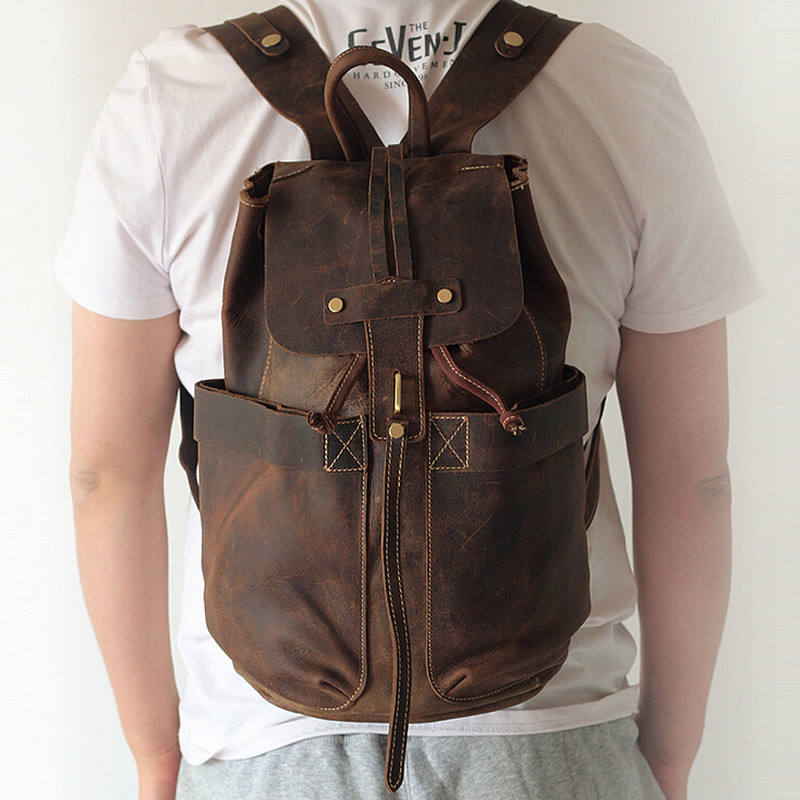 Online Get Cheap Vintage Leather Backpacks for Men -Aliexpress.com ...