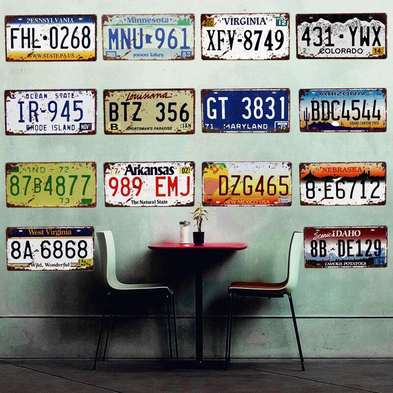 Usa Arizona Motorcycles Car Metal Decorative License Plate Vintage Home Decor Tin Sign Bar Pub