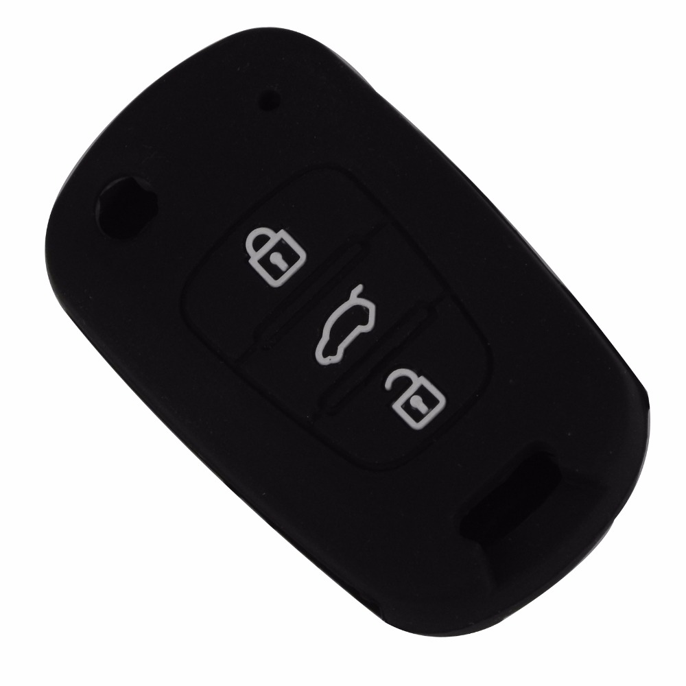 Remote 3 Buttons Silicone Car Key Cover Case For HYUNDAI i30 Verna Veloster for KIA K2