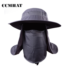 CCMHAT Quick Drying Fishing Hat For Women Protect Neck Face Cap Sun Hat For  Men Climb 103e77902ff7