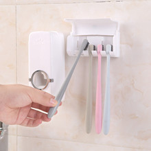 Home Toothpaste Toothbrush Rack Wall Suction Squeezer Bathroom Accessories Fully Automatic Set