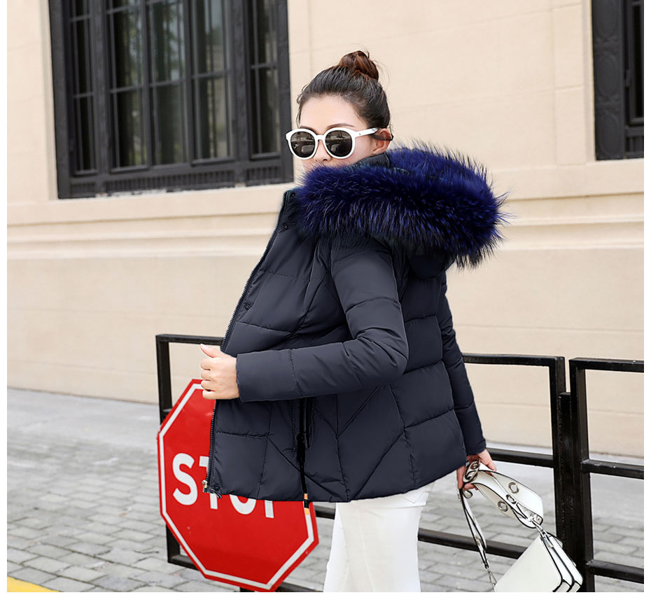 HTB1NILalr3nBKNjSZFMq6yUSFXaA 2019 Winter Jacket women Plus Size Womens Parkas Thicken Outerwear solid hooded Coats Short Female Slim Cotton padded basic tops
