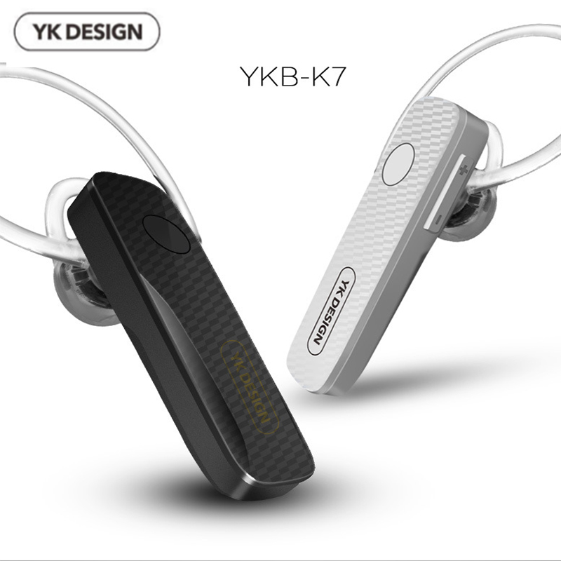 YK-K7 Stereo Mini Bluetooth Headset Hands Free Headphone Wireless 4.1 Earbuds With Microphone Noise Reduction for Smart Phone