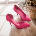 Sexy Pointed Toe women pumps new wedding shoes  Slip-On red bottom high heels zapatos mujer large size 33-43