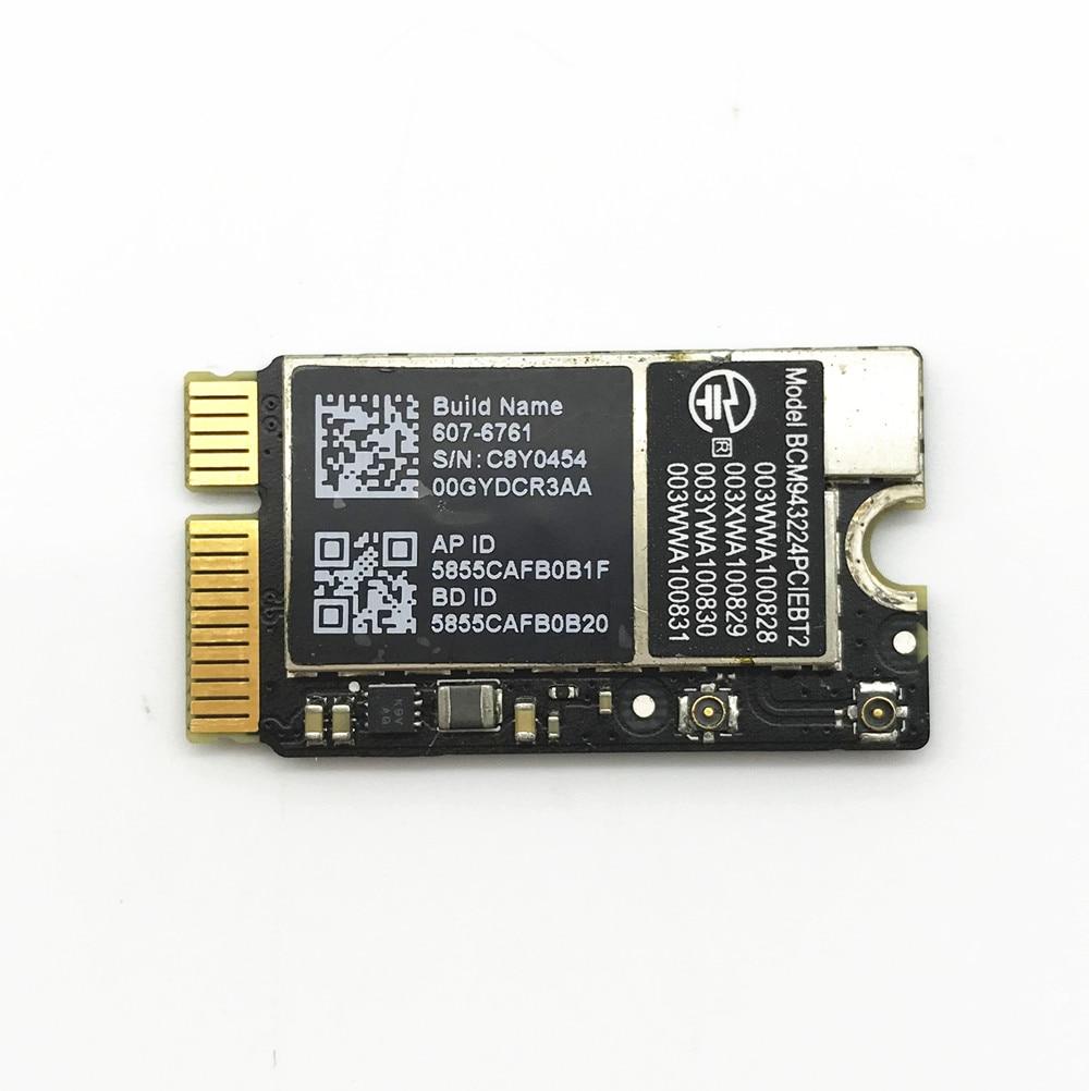BCM943224PCIEBT2 300Mbps 2.4&5G WiFi Bluetooth 4.0 Mini PCIe Network Card For Mac OS Macbook Air A1370 A1369 A1465