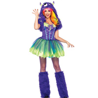 Sexy Purple Green Scary Posh Monster Halloween Costume With Tutu