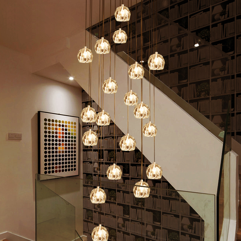 linear entryway long lobby luxury crystal led modern dinning room custom staircase chandelier light for high ceilings