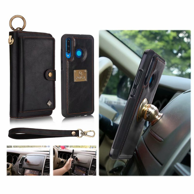 Image 5 - Purse Wristlet Phone Case For coque huawei p30 pro lite nova4e Funda Etui Luxury Leather Protective Wallet Phone Shell Cover bagWallet Cases   -