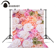 Allenjoy photographic camera beautiful flower baby shower 3D wedding real background for photo shoots vinyl background