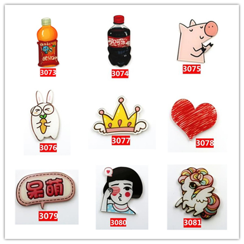 9 PC Icons On The Backpack Acrylic Badges Jeans Decoration Badge For Clothes Kawaii Drink Pin Brooch