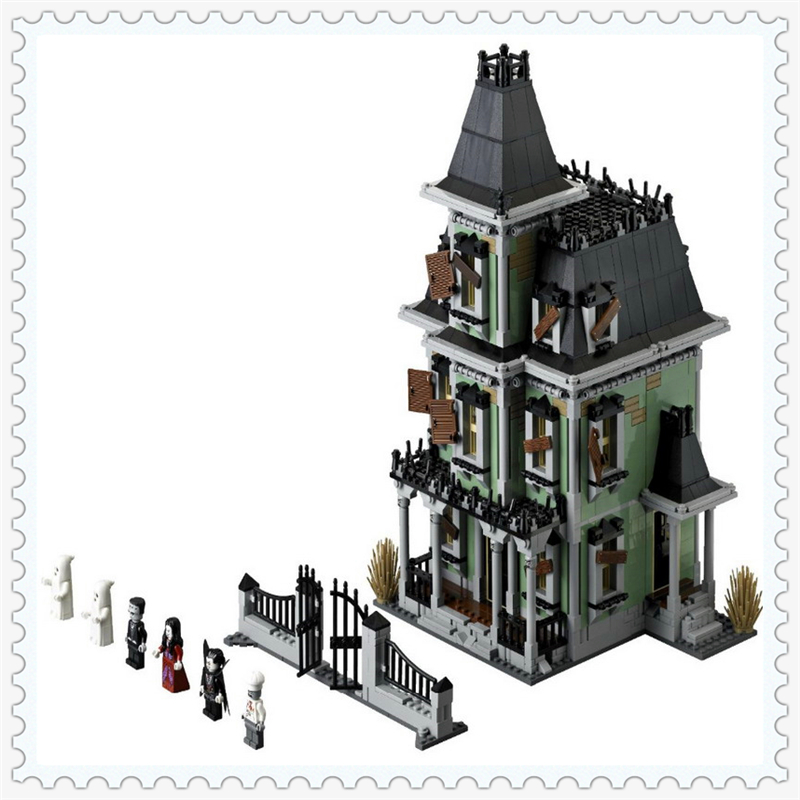 LEPIN 16007 Monster Warrior Fighters Haunted House Building Block 2141Pcs Educational  Toys For Children Compatible Legoe in stock new lepin 16007 2141pcs monster fighter the haunted house model set building kits model compatible with10228