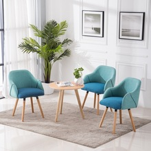 Restaurant Dining Chair Family Study Bedroom Coffee Lounge Chair Nordic Furniture Office Negotiate Soft Bag Computer Chai