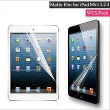 5 Unds/pack frosted mate protector de pantalla para apple ipad mini 1 2 3 protector de la película protectora antideslumbrante cartón paquete y puede seguir
