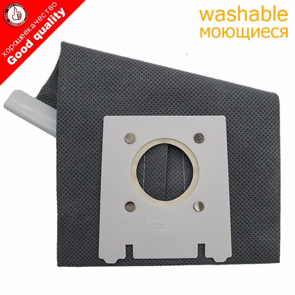 TOP Qualy Washable Vacuum Cleaner Type G Cloth Dust Bags TypG For Bosch SIEMENS BSG6 BSG7 BSGL3126GB GL30 ProEnergy Hoover Bag