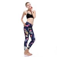 Eshines тренировки Кальсоны йоги тропические цветы 3D принт Для женщин \ x27s Спортивные штаны S-3XL Плюс Размеры Спорт Леггинсы для женщин Фитнес Push...
