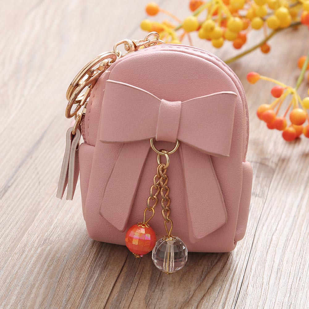 Women Coin Purse Wallet Purses Ladies Leather Fashion Bowknot Short Small Zipper Slim Pocket Case Carteira Gifts Brand New
