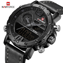NAVIFORCE Luxury Brand Men Military Digital Watch Men Waterproof Sport Quartz Wrist Watch Male Clock Mens Watches 2019 Relogio