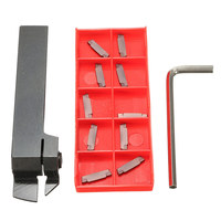 16mm MGEHR1616 2 Grooving Lathe Holder 10Pcs 2MM Carbide Inserts Lathe Tools New Arrival