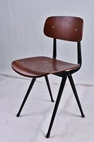 Industrial Style Universal Metal Standard Kitchen Dining Chairs Ergonomic Design For Dining Room Wooden Stool