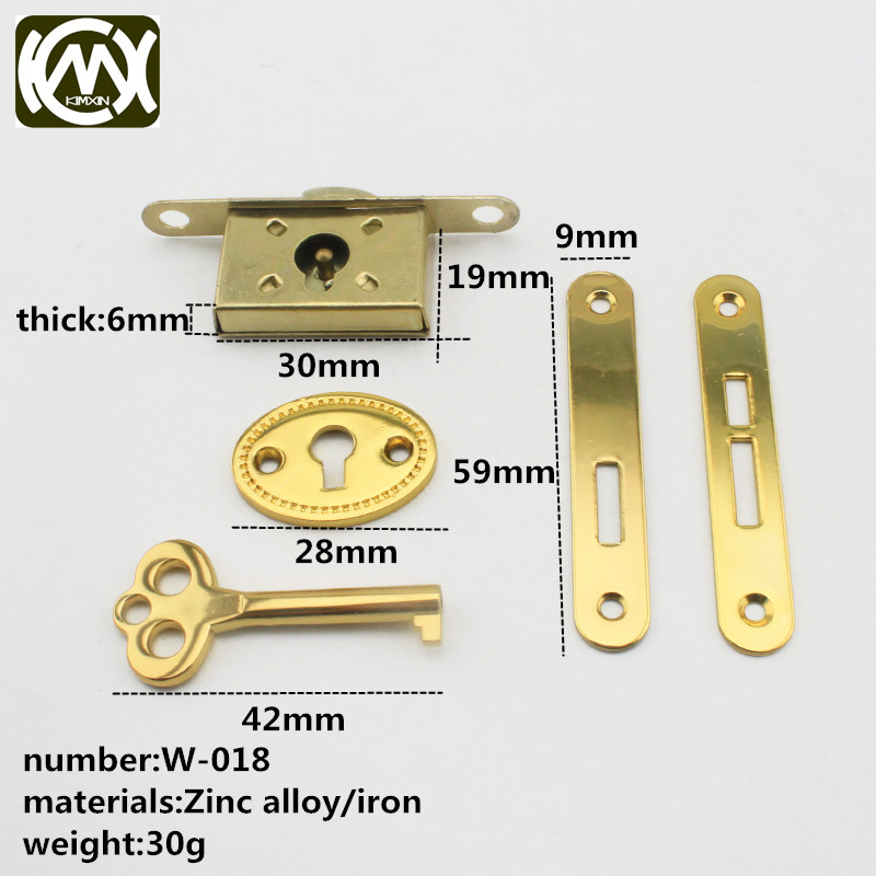 10pcs In stock High-grade wooden box hardware accessories Cigar box lock Antique wooden box lock Quality assurance kimxin-W-018 quality assurance in textbook development