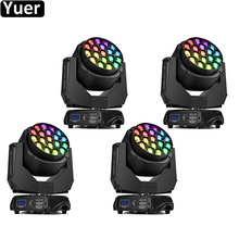 4Pcs/Lot Professional Music Light 19x15W RGBW Bees Eyes Big Eyes Moving Head With Zoom Rotating Dj Party Nightclub Stage Lights big eyes