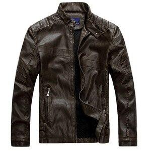 Image 5 - Мужская кожаная куртка ZOEQO, куртка из высококачественной кожи, мотоциклетная куртка