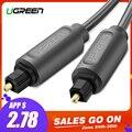 Ugreen Cable de Audio óptico Digital Toslink 1 m 3 m SPDIF Coaxial Cable para amplificadores reproductor de Blu-ray Xbox 360 barra de sonido cable de fibra