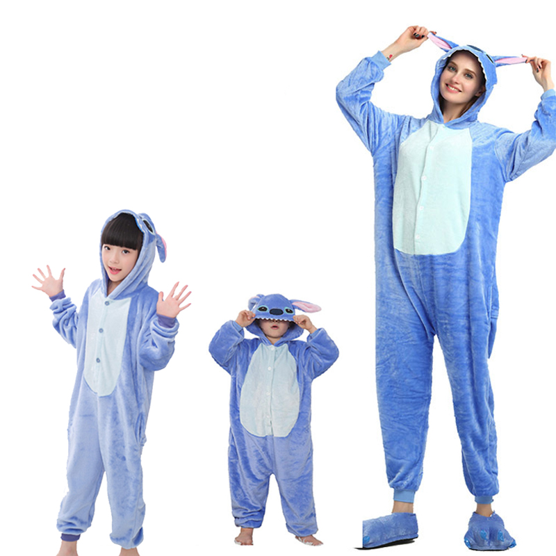 blue stitch onesie for adult children