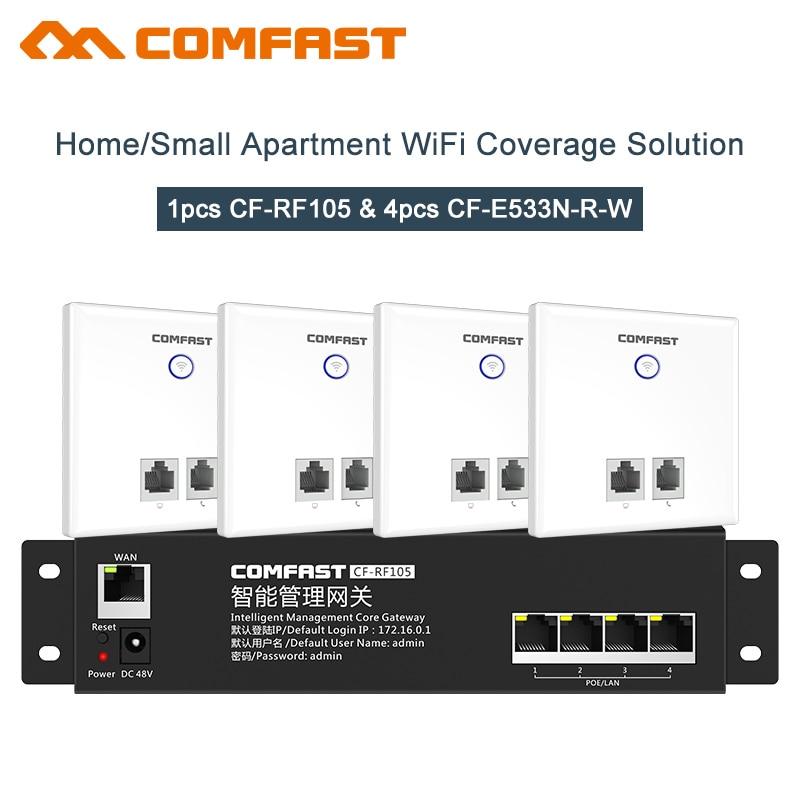 4 pièces 300 Mbps Wifi Dans Le mur point d'accès Sans Fil Usb Wifi ap + 1 Pc Wifi AC Routeur Passerelle pour Hôtel Villa PUB KTV Entreprise Wifi
