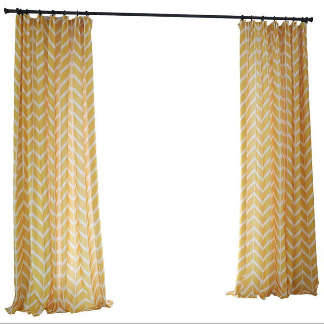 Online Shop Nordic style Bedroom Curtains Geometric printing ...