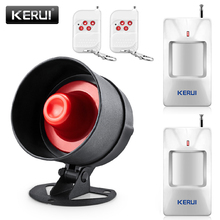 KERUI 100dB Wireless Local  Siren Speaker Burglar Alarm System 433MHz Home Motion Detector Protection Kits