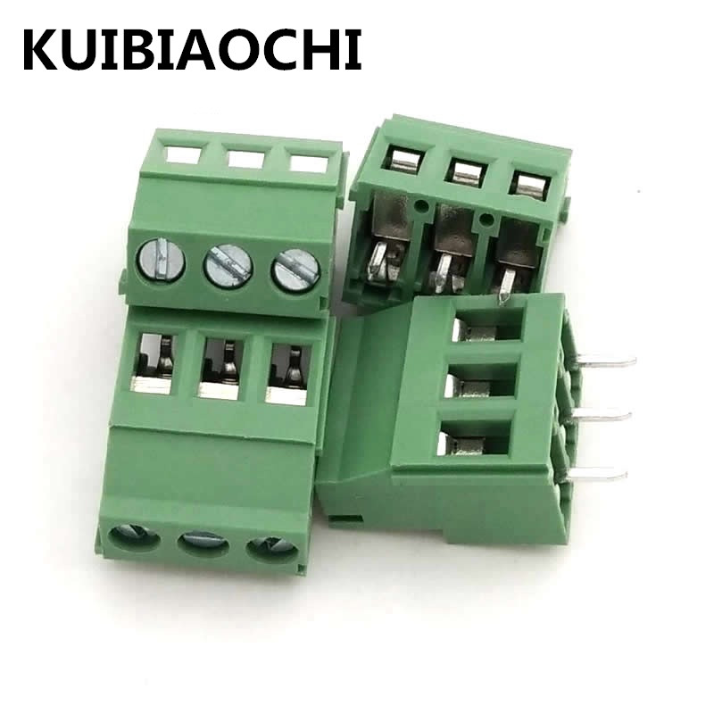 20pcs/LOT KF129-3P 5.08MM 3PIN 300V 5.08mm pitch connector pcb screw terminal block connector 3pin