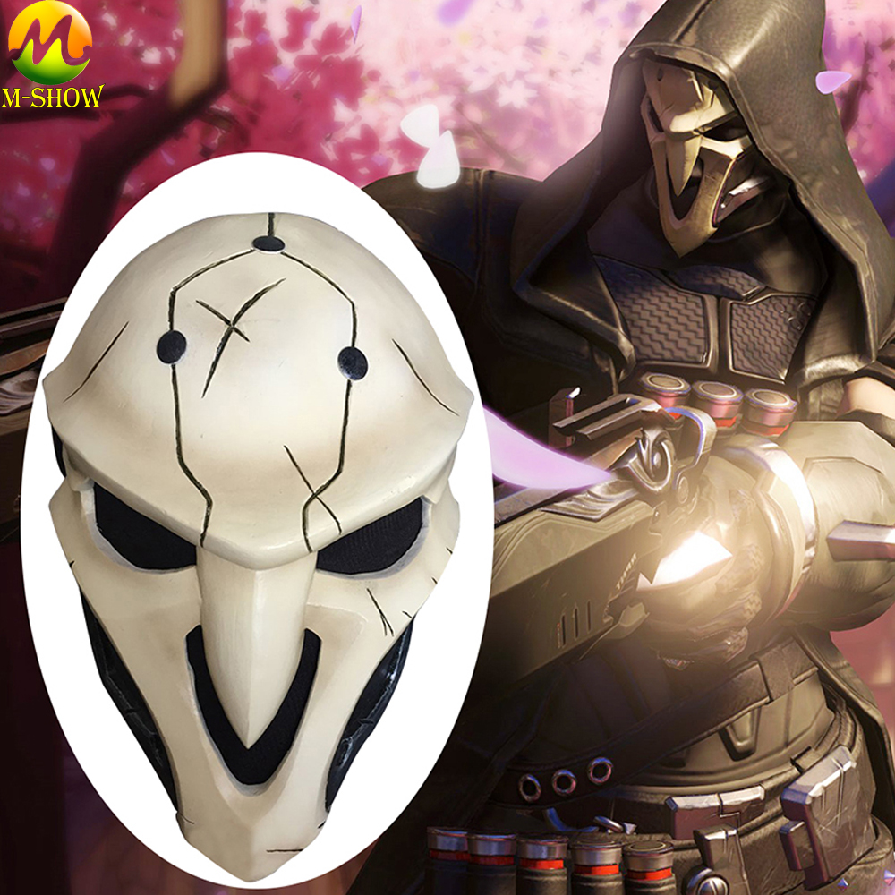 Overwatch Reaper Mask Cosplay Costume Mask OW Gabriel Reyes FRP Material Helmet Halloween Game Gifts Anime
