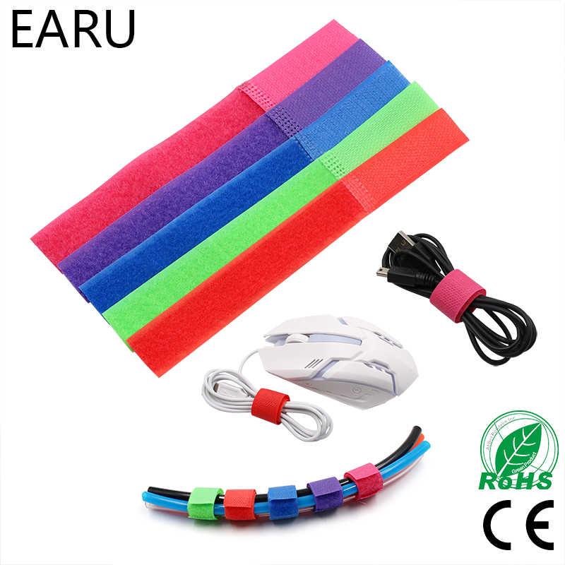 8 unids/lote 18cm 7 pulgadas puede hacerse Cable envoltura de nylon Correa bucle gancho gestión de cables de alimentación marcador de la corbata vinculante sujetador
