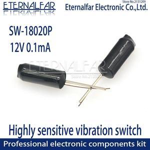 SW-18020P угол наклона переключатель нормально закрытый 12 В 0. 1ма высокой вибрации переключатель наклона двойные бусины пружинный датчик перекл. . .