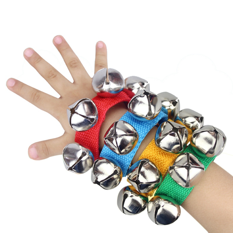 лучшая цена Baby Musical Toy Baby Hand Wrist Bell Jingles Shake Musical Instrument for Children Kids Percussion Early Educational Toy Gifts
