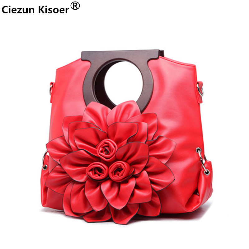 tasjes dames Candy color flower bag Europe and the United States Ms. single shoulder bag solid color red flower Messenger bag sailor moon the same type bag fashion small pure and fresh and candy color one shoulder inclined shoulder bag