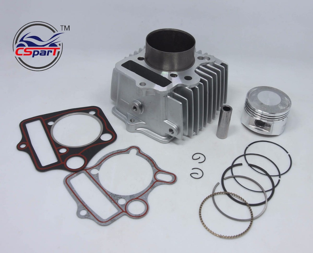 54mm big bore kit cylinder piston ring gasket change 110cc. Black Bedroom Furniture Sets. Home Design Ideas