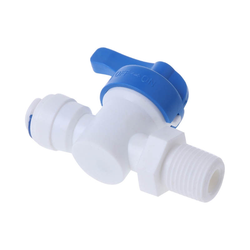 Straight Inline Ball Valve Tube Quick Connect RO Water Reverse Osmosis System