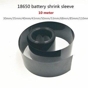 10 м ПВХ термоусадочная трубка различные характеристики 18650 батарея термоусадочная муфта изоляционный кожух термоусадочная черная