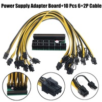 DPS 1200FB Power Supply Breakout Adapter Board 10x6pin Female To 6pin 8Pin 6 2 Male Graphics