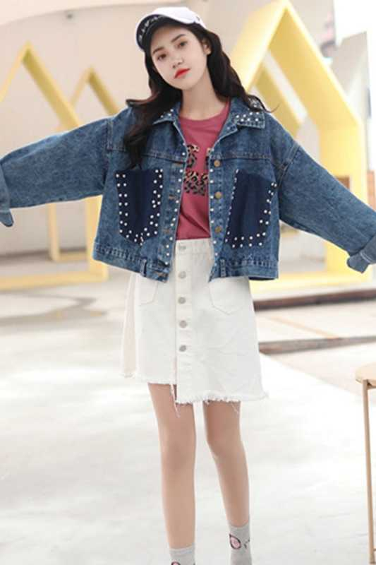 A buon mercato all'ingrosso 2019 nuovo autunno di vendita Caldo di inverno di modo delle donne Giacca di Jeans casuale FP5905