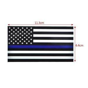 Image 5 - 1PCS משטרת קצין דק כחול קו אמריקאי דגל ויניל מדבקות לרכב מדבקה #1