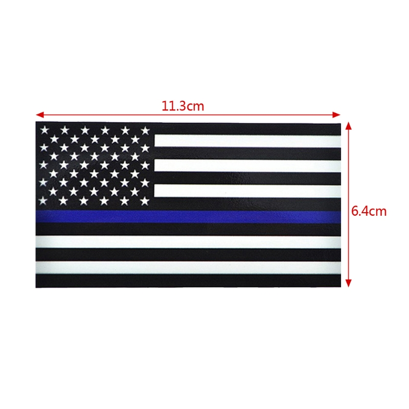 Image 5 - 1PCS Police Officer Thin Blue Line American Flag Vinyl Decal Car Sticker #1-in Car Stickers from Automobiles & Motorcycles
