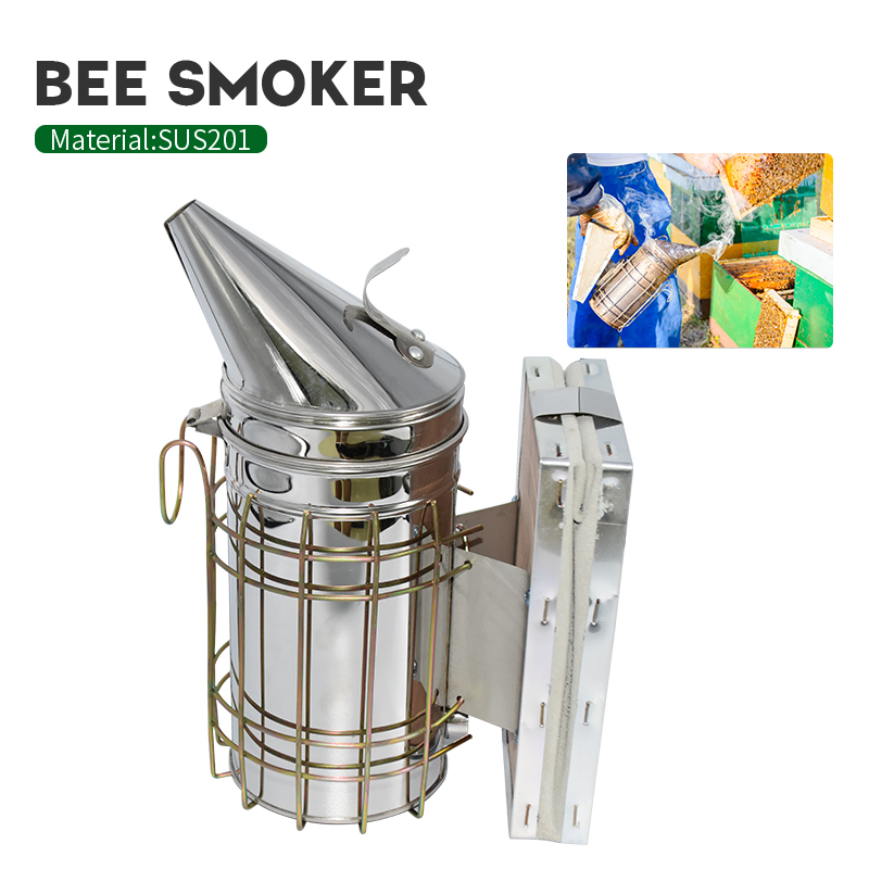Beekeeping Manual Bee Smoker Stainless Steel Smoker Transmitter Kit Bee Smoke Sprayer Beehive Equipment Beekeeping Tools