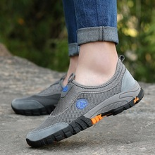 Summer Men's Casual Shoes Outdoor Sneakers Non-slip Wear-resistant Work Shoes Male Mesh Breathable Travel Shoes Drop Shipping