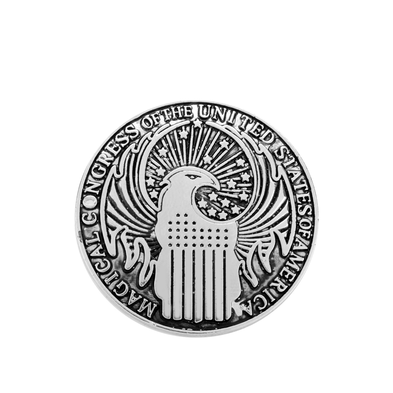 HANCHANG Movie Fantastic Beasts and Where to Find Vintage Brooch Magical Congress Badge Pins Brooch Men Women Cosplay Jewelry